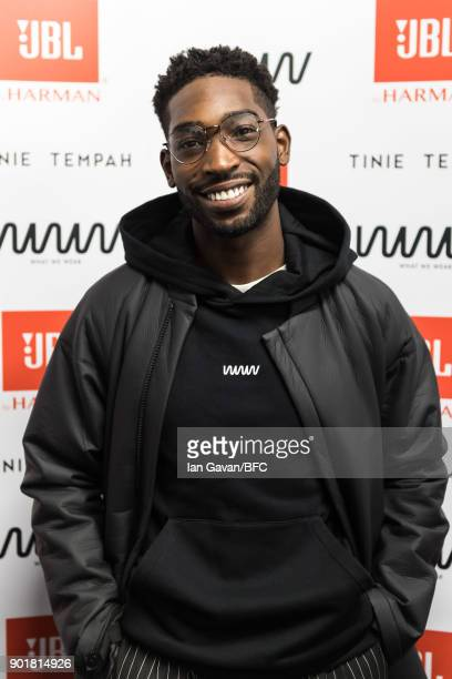 Tinie Tempah attends the What We Wear show during London Fashion Week Men's January 2018 at BFC Show Space on January 6, 2018 in London, England.