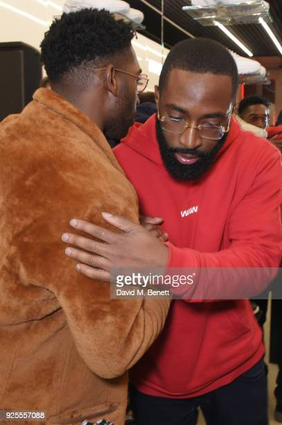 Tinie Tempah attends the What We Wear x Axel Arigato pop up shop launch party on February 28 2018 in London England