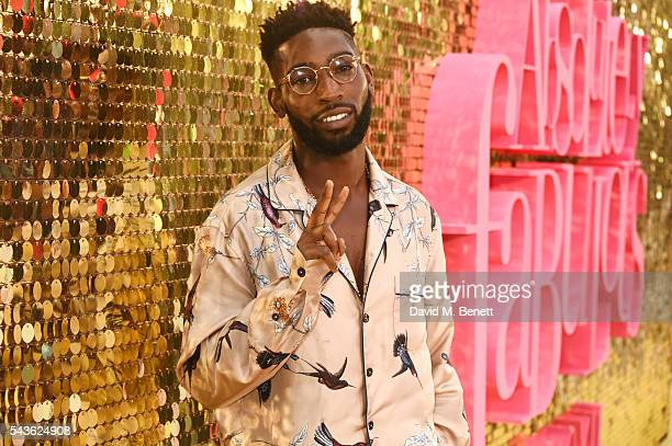 """Tinie Tempah attends the World Premiere of """"Absolutely Fabulous: The Movie"""" at Odeon Leicester Square on June 29, 2016 in London, England."""