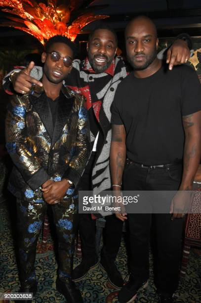 Tinie Tempah Idris Elba and Virgil Abloh attend as Tiffany Co partners with British Vogue Edward Enninful Steve McQueen Kate Moss and Naomi Campbell...