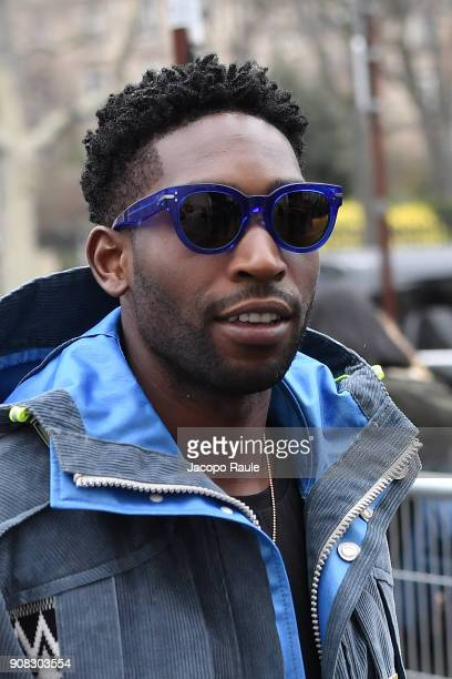 Tinie Tempah is seen arriving at Lanvin fashion show during the Paris Fashion Week Menswear Fall Winter 2018/2019 on January 21 2018 in Paris France