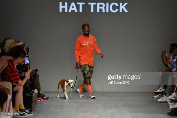 Tinie Tempah is seen on the runway at the What We Wear show during London Fashion Week Men's June 2018 at the BFC Show Space on June 11, 2018 in...