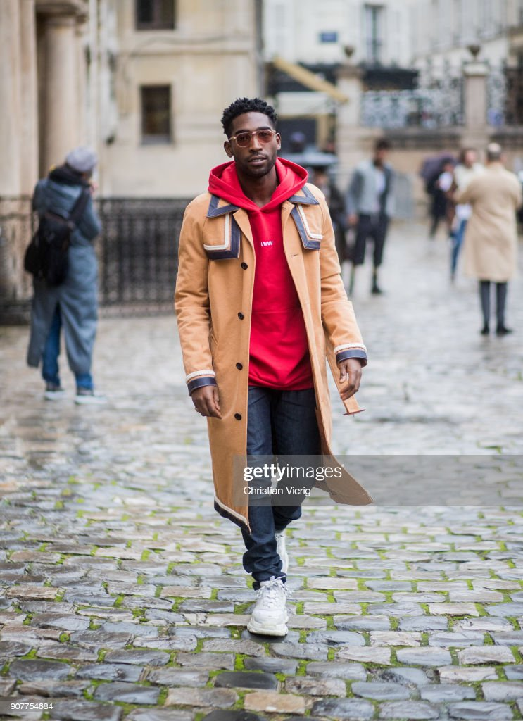 Tinie Tempah is seen outside Thom Browne on January 20, 2018 in Paris, France.
