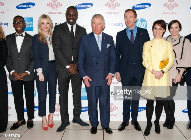 Tinie Tempah Laura Whitmore Idris Elba Prince Charles Prince of Wales Damian Lewis Helen McCrory and Victoria Pendleton attend The Prince's Trust...