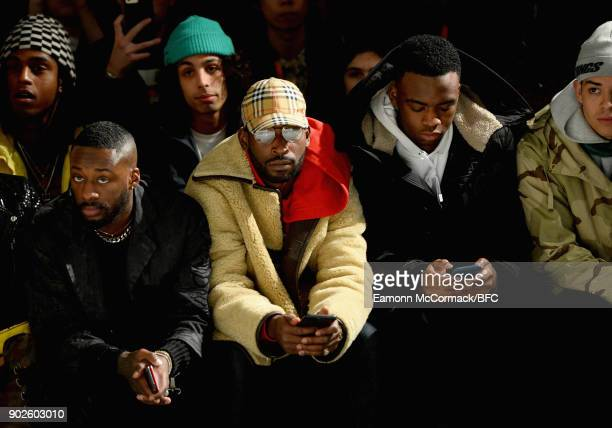 Tinie Tempah on the front row at the ACOLDWALL show during London Fashion Week Men's January 2018 at BFC Show Space on January 8 2018 in London...