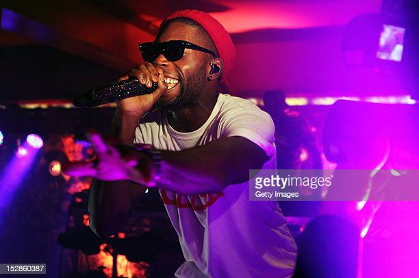 Tinie Tempah performs at The Botanic Inn Belfast as part of the annual Arthur's Day celebrations on September 27 2012 Celebrating the life and legacy...
