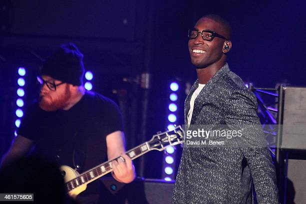 Tinie Tempah performs at the BRIT Awards nominations show on January 9 2014 in London England