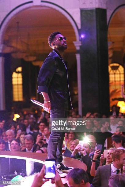 Tinie Tempah performs at the launch of The Ned London on April 26 2017 in London England