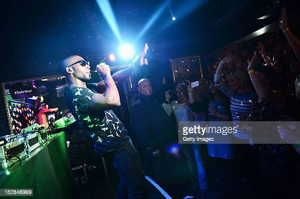 Tinie Tempah performs at Whites Tavern in Belfast as part of the annual Arthur's Day celebrations on September 27 2012 Celebrating the life and...