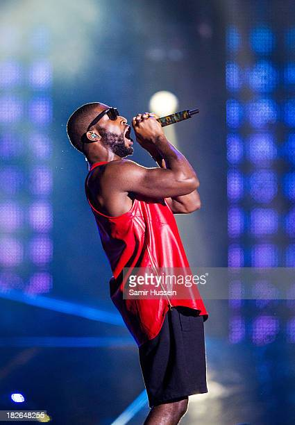 Tinie Tempah performs live on stage at the Unity concert in memory of Stephen Lawrence at O2 Arena on September 29 2013 in London England