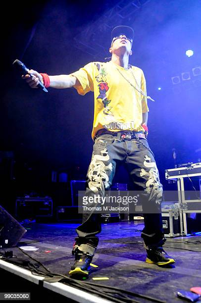 Tinie Tempah performs on stage at O2 Academy on May 11, 2010 in Newcastle upon Tyne, England.