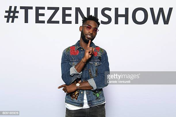 Tinie Tempah performs on stage during the TEZENIS Fashion Show on September 20 2016 in Verona Italy