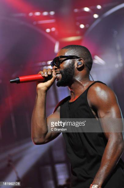 Tinie Tempah performs on stage on Day 26 of the iTunes Festival 2013 at The Roundhouse on September 26 2013 in London England