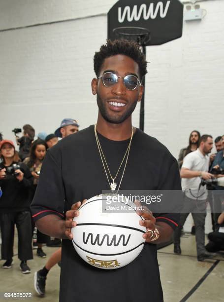 Tinie Tempah poses at his What We Wear presentation during London Fashion Week Men's June 2017 at The Old Truman Brewery on June 10 2017 in London...