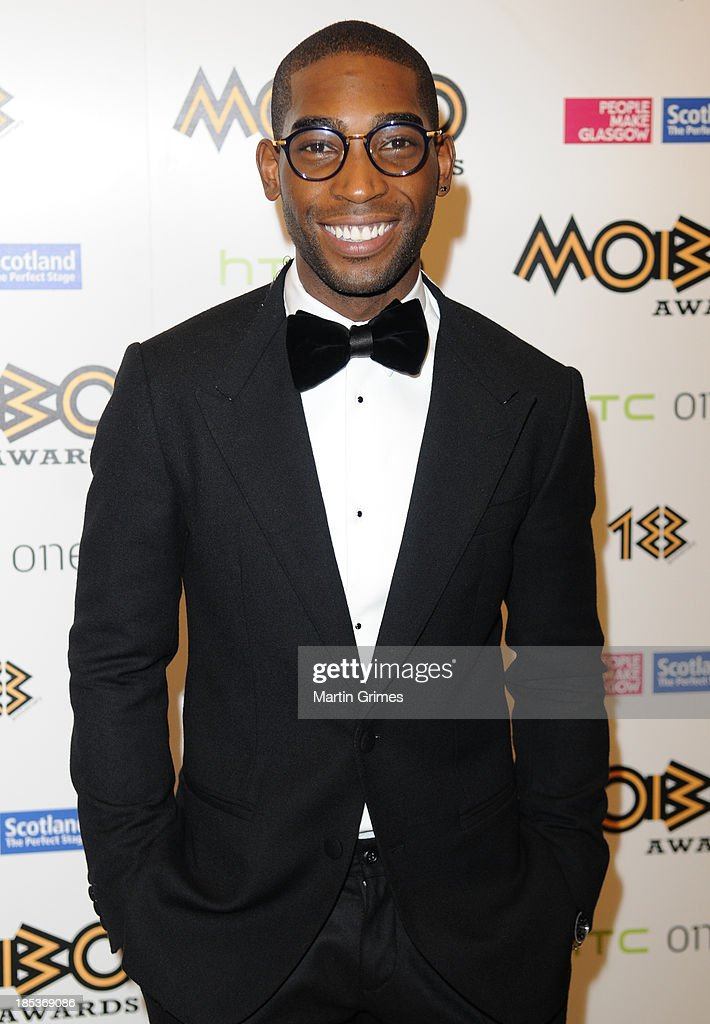 Tinie Tempah poses at the 18th anniversary MOBO Awards at The Hydro on October 19, 2013 in Glasgow, Scotland.