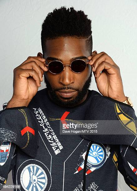 Tinie Tempah poses wearing sunglasses for a portrait before the MTV EMA's at the Mediolanum Forum on October 25 2015 in Milan Italy