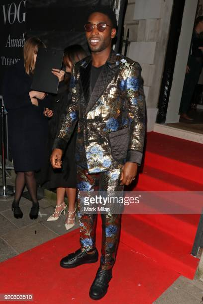 Tinie Tempah seen at the Vogue and Tiffany Co party at Annabel's club after attending the EE British Academy Film Awards at the Royal Albert Hall on...