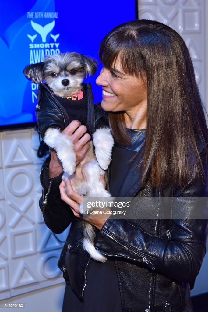 Tinkerbelle the Dog and Sam Carrell attends the 10th Annual Shorty Awards at PlayStation Theater on April 15, 2018 in New York City.