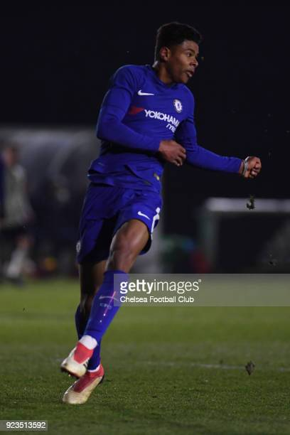 Tino Anjori during the Fulham and Chelsea U18 Premier League match at Motspur Park on February 23 2018 in New Malden England