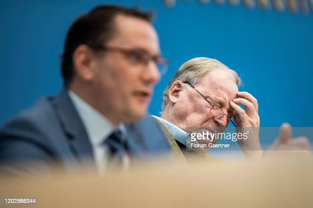 Tino Chrupalla Federal Chairman of the AfD and Alexander Gauland Parliamentary group coleader of the rightwing Alternative for Germany political...