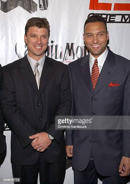 Tino Martinez and Derek Jeter during Party for ESPN The Magazine's 'Next' 2003 Athlete Year End Issue at EXIT in New York City New York United States