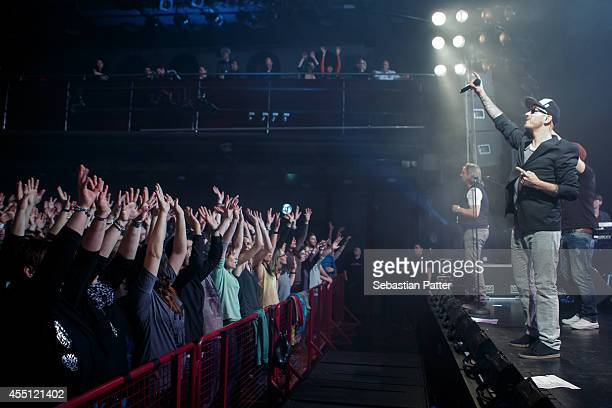 Tino Oac of the band Soehne Mannheims performs live on stage at Orpheum on February 26 2014 in Graz Austria