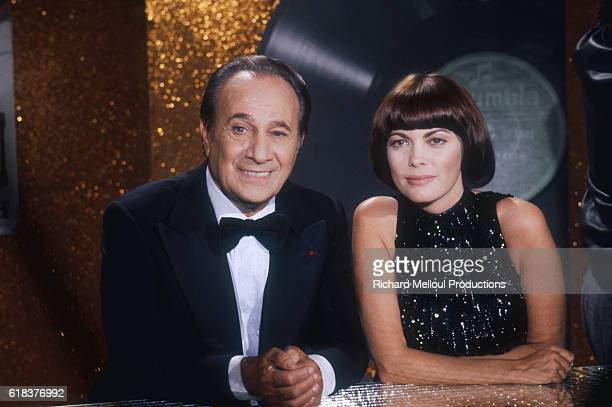 Tino Rossi and Mireille Mathieu During Television Broadcast