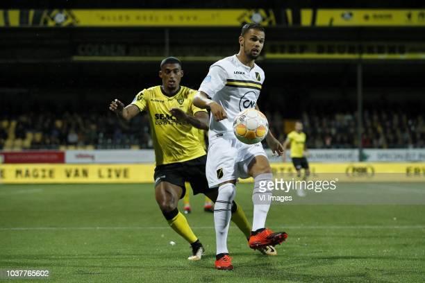 TinoSven Susic of VVV Venlo Anouar Kali of NAC Breda NAC Breda goalkeeper Benjamin van Leer Fabian Sporkslede of NAC Breda Moreno Rutten of VVV Venlo...