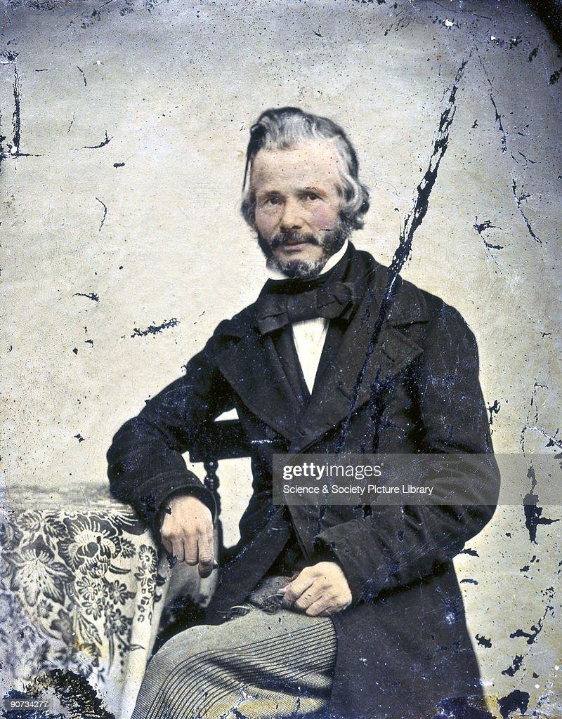 John Stringfellow, English pioneer aviator, c 1855. : News Photo