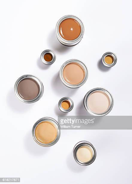 Tins of paint - foundation colours