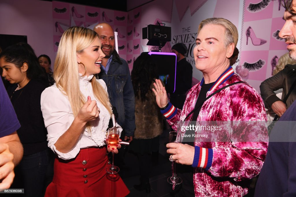Tinsley Mortimer (L) and Co-Founder & Chief Creative Officer, Too Faced Cosmetics Jerrod Blandino attend Too Faced's Better Than Sex Pop-up Launch on October 18, 2017 in New York City.