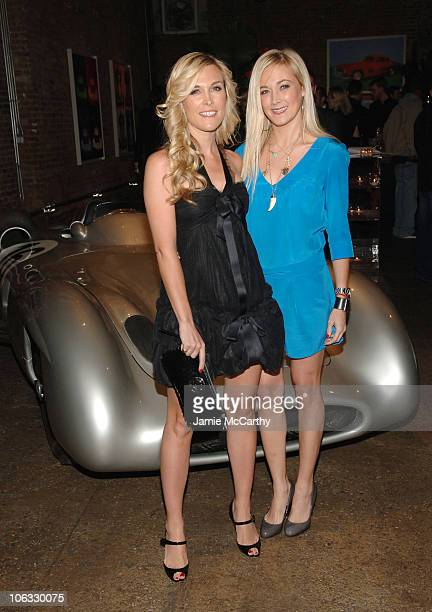 Tinsley Mortimer and Dabney Mercer at MercedesBenz Presents Andy Warhol at Drive In Studios