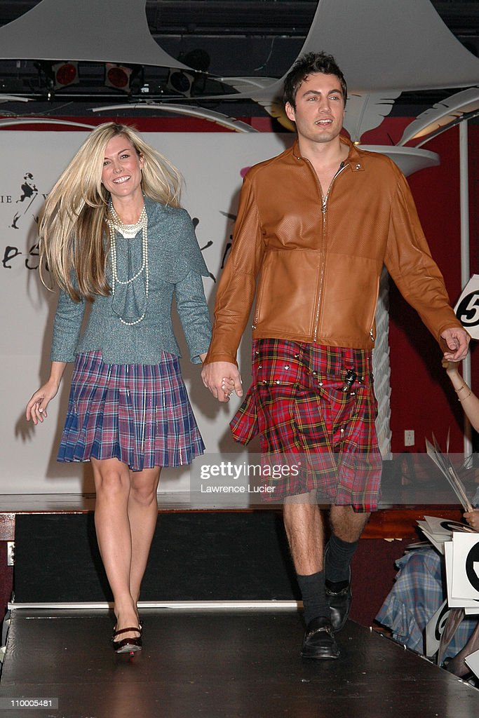 Tinsley Mortimer and Fabian Basabe during Johnnie Walker Presents Dressed to Kilt - Arrivals and Runway at Copacabana in New York City, New York, United States.