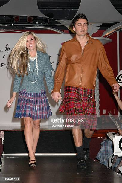Tinsley Mortimer and Fabian Basabe during Johnnie Walker Presents Dressed to Kilt Arrivals and Runway at Copacabana in New York City New York United...