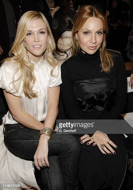 Tinsley Mortimer and Fabiola Beracasa during MercedesBenz Fashion Week Fall 2007 Vera Wang Front Row and Backstage at The Tent Bryant Park in New...