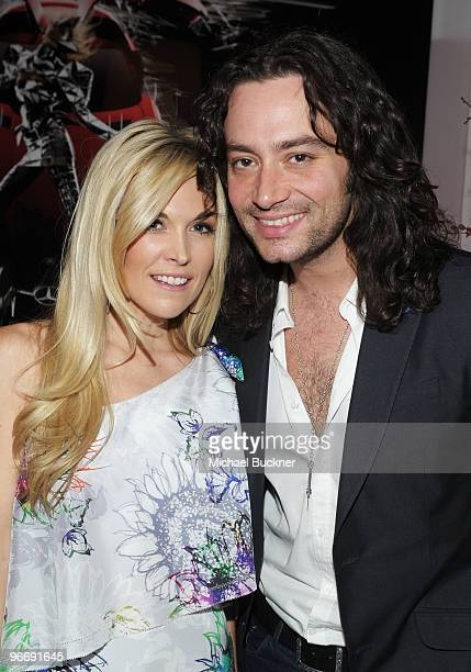Tinsley Mortimer and singer Constantine Maroulis attend the MercedesBenz Fashion Week Fall 2010 Official Coverage at Bryant Park on February 14 2010...