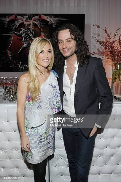 Tinsley Mortimer and singer Constantine Maroulis attends the MercedesBenz Fashion Week Fall 2010 Official Coverage at Bryant Park on February 14 2010...