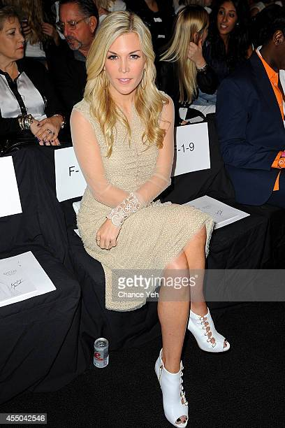 Tinsley Mortimer attends Badgley Mischka with Yappn Corp Brings Fotoyapp To MercedesBenz Fashion Week at Lincoln Center on September 9 2014 in New...