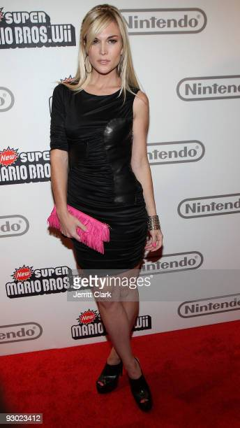 Tinsley Mortimer attends the 25 years of Mario celebration Super Mario Bros Wii launch at the Nintendo World Store on November 12 2009 in New York...