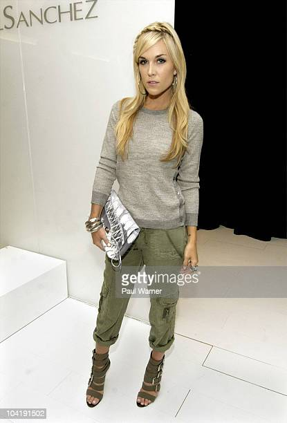 Tinsley Mortimer attends the Angel Sanchez Spring 2011 presentation during MercedesBenz Fashion Week at 148 West 37th Street on September 16 2010 in...