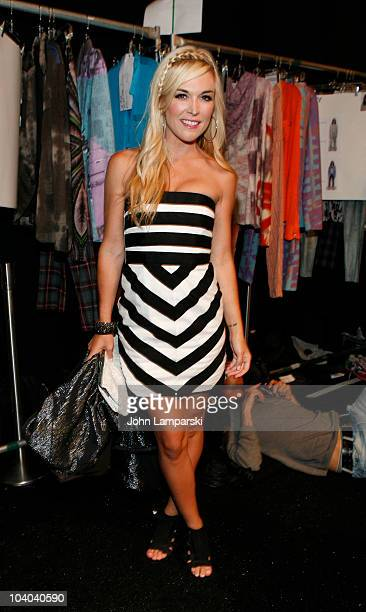 Tinsley Mortimer attends the Custo Barcelona Spring 2011 fashion show during MercedesBenz Fashion Week at The Stage at Lincoln Center on September 12...