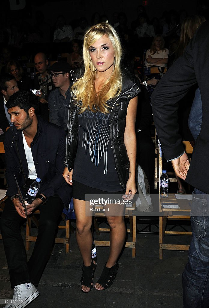 Tinsley Mortimer attends the G-Star Spring 2011 fashion show during Mercedes-Benz Fashion Week at Pier 94 on September 14, 2010 in New York City.
