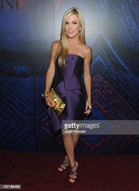 Tinsley Mortimer attends the YSL Belle D'Opium fragrance launch at The YSL Stage on June 17 2010 in New York City