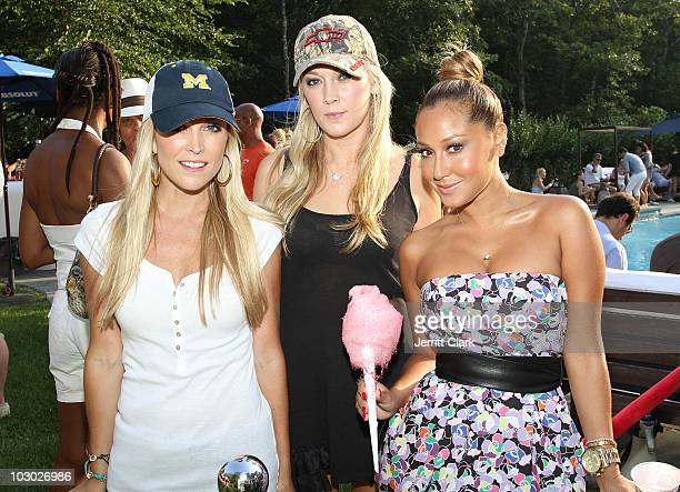 Tinsley Mortimer Dabney Mercer and Adrienne Bailon attend the Absolut Brooklyn BBQ at The Estate on July 17 2010 in Sag Harbor New York