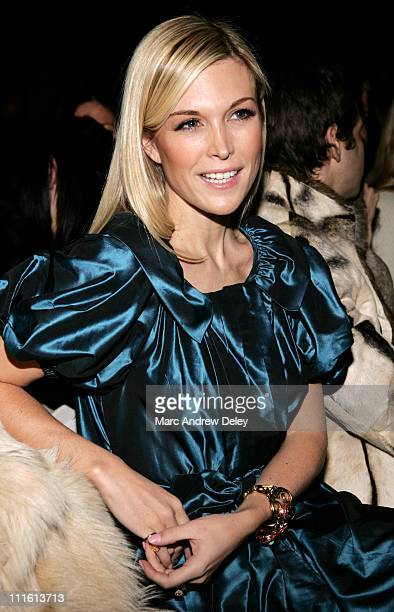 Tinsley Mortimer during MercedesBenz Fashion Week Fall 2007 Peter Som Front Row and Backstage at The Promenade Bryant Park in New York New York...