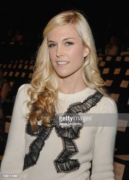 Tinsley Mortimer during Olympus Fashion Week Spring 2007 Oscar de la Renta Front Row and Backstage at The Tent in New York City New York United States
