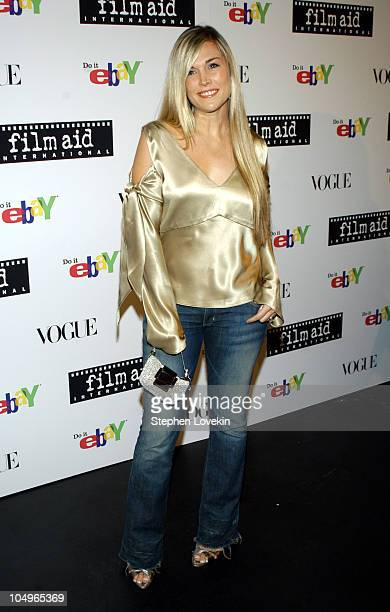 Tinsley Mortimer during Vogue and eBay Host Holiday Party to Benefit FilmAid International at Diane von Furstenberg Studios in New York City New York...
