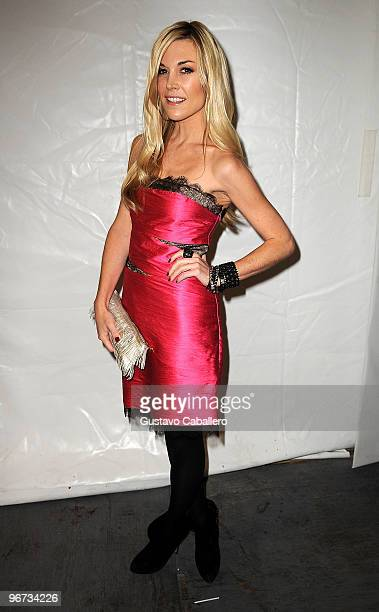 Tinsley Mortimer is seen at Bryant Park on February 15 2010 in New York New York