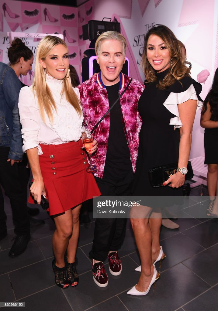 Tinsley Mortimer, Jerrod Blandino and Kelly Dodd attend Too Faced's Better Than Sex Pop-up Launch on October 18, 2017 in New York City.