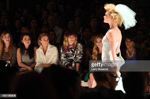 Tinsley Mortimer Jessica Hart Chloe Norgaard and Willow Shields attend the Betsey Johnson fashion show during MercedesBenz Fashion Week Spring 2015...